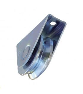 Roulette à visser Ø60mm avec gorge en V pour portails coulissants