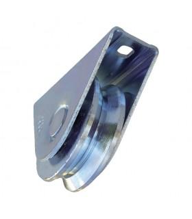 Roulette à visser Ø80mm avec gorge en V pour portails coulissants