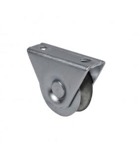 Roulette à visser Ø60mm avec gorge en U avec bandage polyamide