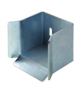 Arrêtoir avaloir pour tube de 98mm de portail coulissant acier zingué