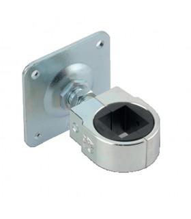 Gond réglable M22 pour tube 40x40mm sur platine à visser pour réglage horizontal