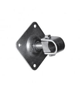 Gond réglable M22 pour tube 35x35mm sur platine à visser pour réglage horizontal