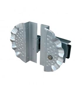 Option cache-serrure et serrure pour portails lourds à ouverture manuelle ou électrique