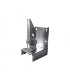 Pivot inférieur à bille tube 40x40mm pour portillon à visser sur pilier