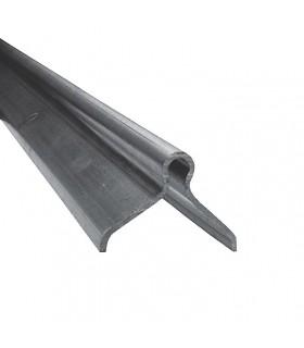 Rail à sceller en U Ø20mm longueur 3m pour portails coulissants