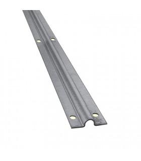 Rail à visser en forme de U ø16mm longueur 2m pour portails coulissants