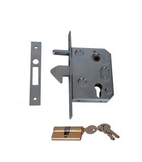 Serrure à crochet de portail coulissant pour tube 40x40 ou 50x50mm