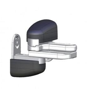 Gond modulo acier inox compensateur de pente noir pour portails