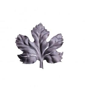 Feuille de vigne 95x105mm tôle épaisseur 1mm pour décoration