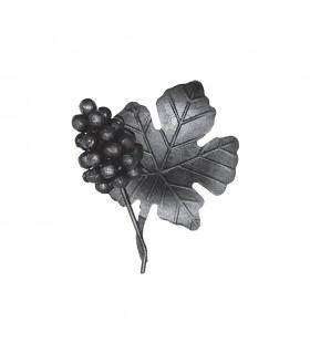 Ensemble 180x140mm grappe de raisin et feuille de vigne assemblés pour décoration