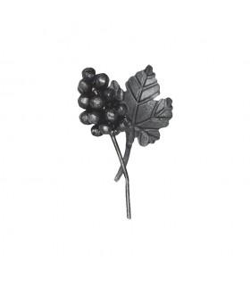 Ensemble 140x110mm grappe de raisin et feuille de vigne assemblés pour décoration
