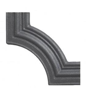 Moulure d'angle pour profilé 45x16 hauteur 125mm pour soubassements de portails