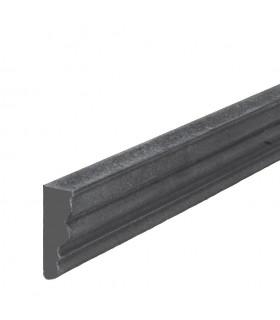 Profil mouluré 45x16mm pour soubassements de portails