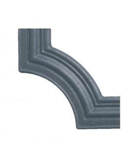 Moulure d'angle pour profilé 35x12mm en fonte pour habillage de soubassement de portail