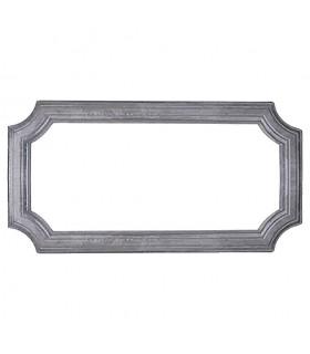 Cadre moulé 570x295mm en profil de 45x10mm pour soubassement de portail