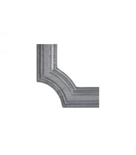 Moulure d'angle pour profilé 45x10mm en aluminium pour habillage de soubassement de portail