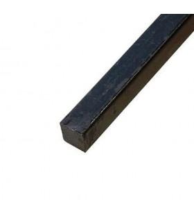 Barre profilée carré 12x2mm longueur 2m lisse en acier laminé brut