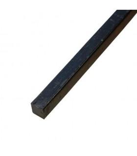 Barre profilée carré 12x2mm longueur 3m lisse en acier laminé brut