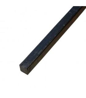 Barre profilée carré 16x16mm longueur 2m lisse en acier laminé brut
