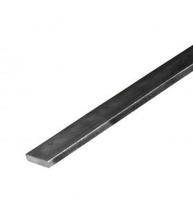 Barre profilée plate 14x6mm longueur 2m lisse en acier laminé brut