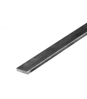 Barre profilée plate 20x4mm longueur 2m lisse en acier laminé brut
