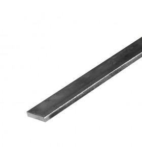 Barre profilée plate 20x6mm longueur 2m lisse en acier laminé brut