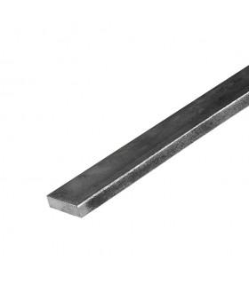 Barre profilée plate 20x8mm longueur 2m lisse en acier laminé brut