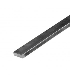 Barre profilée plate 20x10mm longueur 2m lisse en acier laminé brut