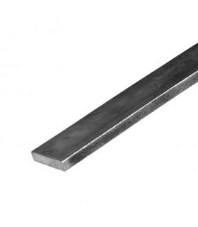 Barre profilée plate 30x6mm longueur 2m lisse en acier laminé brut