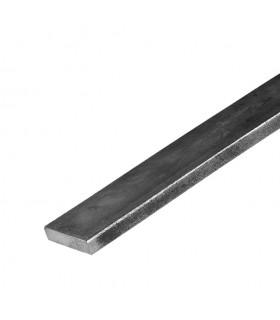Barre profilée plate 30x8mm longueur 3m lisse en acier laminé brut
