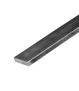 Barre profilée plate 40x8mm longueur 3m lisse en acier laminé brut