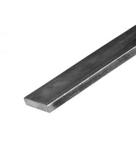 Barre profilée plate 40x10mm longueur 2m lisse en acier laminé brut