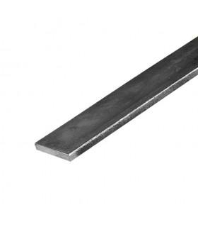 Barre profilée plate 50x8mm longueur 3m lisse en acier laminé brut