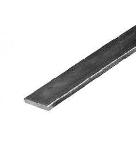 Barre profilée plate 50x6mm longueur 2m lisse en acier laminé brut
