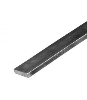 Barre profilée plate 30x10mm longueur 2m lisse en acier laminé brut