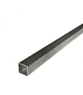 Barre profilée tube carré 16x16mm longueur 2m lisse acier laminé brut