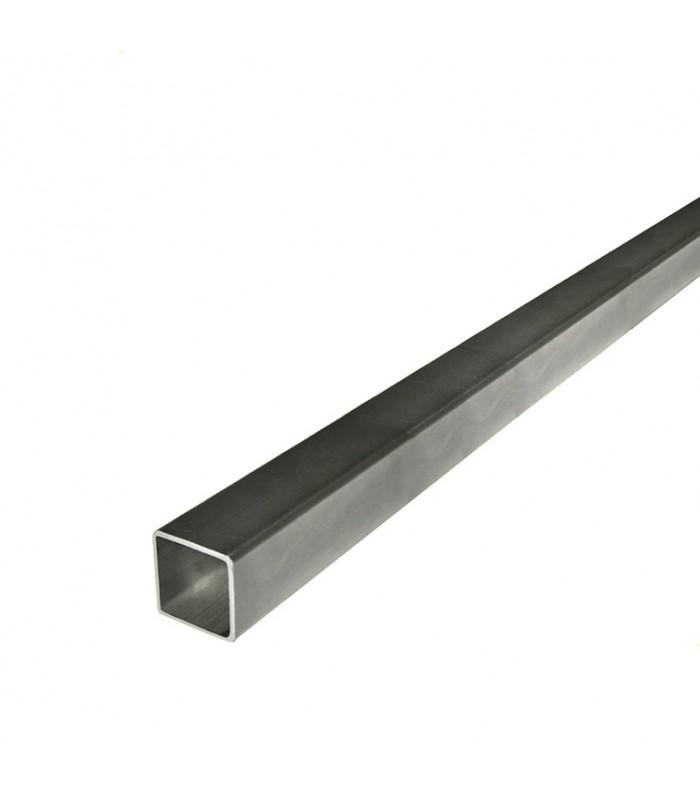 Barre profilée tube 16x16mm longueur 2m carré lisse acier laminé brut