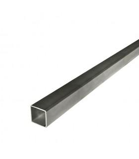 Barre profilée tube 20x20mm longueur 2m carré lisse acier laminé brut