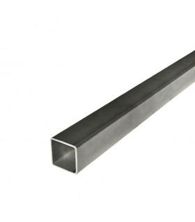 Barre profilée tube 30x30mm longueur 3m carré lisse acier laminé brut