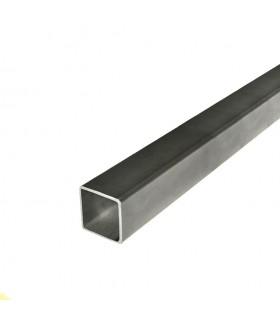 Barre profilée tube 40x40mm longueur 2m carré lisse acier laminé brut