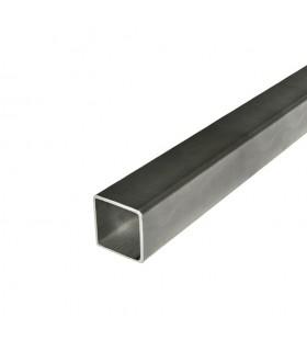 Barre profilée tube 50x50mm longueur 3m carré lisse acier laminé brut