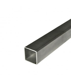 Barre profilée tube 60x60mm longueur 2m carré lisse acier laminé brut