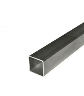 Barre profilée tube 60x60mm longueur 3m carré lisse acier laminé brut
