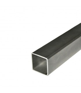 Barre profilée tube 80x80mm longueur 2m carré lisse acier laminé brut