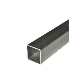 Barre profilée tube 100x100mm longueur 3m carré lisse acier laminé brut