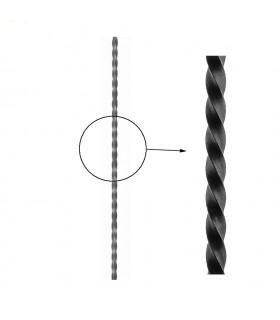 Barre profilée carré 14x14mm longueur 2 m carré torsadé brut