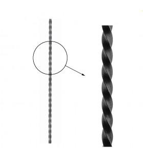 Barre profilée carré 14x14mm longueur 3 m carré torsadé brut