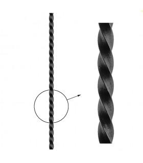 Barre profilée carré 16x16mm longueur 2 m carré torsadé brut