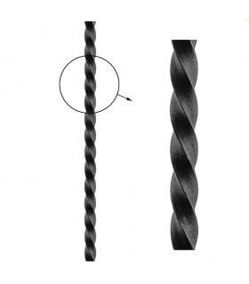 Barre profilée carré 25x25mm longueur 3 m carré torsadé brut