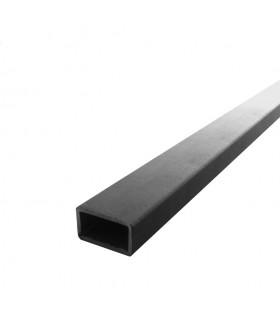 Barre profilée tube 35x20mm longueur 2m rectangulaire lisse acier brut